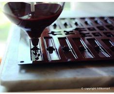 C3D Molde de silicona para chocolate para preparar un arbol de Navidad, color marrón