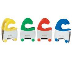 Trudeau 5050508 - Pinza para utensilios de cocina (acero inoxidable y silicona), colores variados, 1 unidad