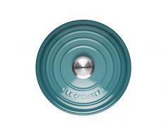 Le Creuset Evolution - Cocotte redonda, de hierro colado esmaltado, 22 cm, color azul caribe