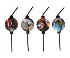 """Star Wars 4009775446644™ - Conjunto de 8 pajillas decoradas, diseño de """"La guerra de las galaxias"""""""