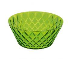 Koziol CRYSTAL - Ensaladera de plástico, 3,5 l, efecto cristal, color verde