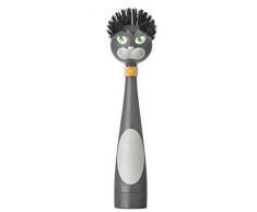 Vigar Félix Cepillo Lavaplatos con Dosificador de Jabón Plástico Multicolor 7.5x7x25 cm