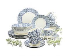 Creatable 19517 Serie Oriental Blue, Vajilla, 30 Piezas)