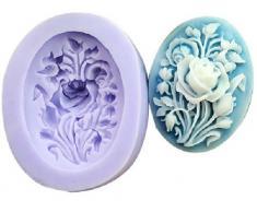 Molde de Silicona 3.9cm Diseño Flor - Para Decoración Repostería Tartas Pasteles - Allforhome