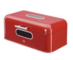 Hailo 0833-610 KitchenLine - Panera rectangular, color rojo