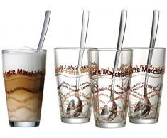 Ritzenhoff & Breker 124200 - Vasos de latte macchiato con cucharilla (8 unidades)