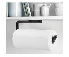 mdesign porta rollo de toallitas de papel para cocina u de pared u negro