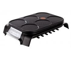 Tefal Crep Party Inox & Design PY558813 - Crepera de Acero Inoxidable y Revestimiento Antiadherente con Capacidad para 6 Tortitas, Crepes o Pancakes