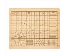 getDigital 11780 Tabla de Corte de Alta Precisión de Madera de Haya sin Tratar con Ángulos y Formas Geométricas 31 x 25 x 2 cm
