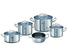 Fissler original-profi collection / Juego de ollas de acero inoxidables, compuesto por 5piezas, con tapas de vidrio, apta para cocinas de inducción, gas, vitrocerámica y eléctricas