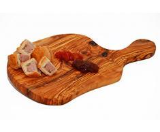 Madera de olivo para servir/de queso/tabla de cortar con asa