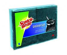Scotch-Brite Estropajo Laminado Universal, Azul-No Raya, 2 Unidad