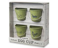 Eddingtons - Hueveras (4 unidades), diseño de gallinas y gallo