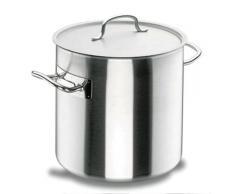 Lacor Chef Classic 50128 - Olla recta con tapa, 28 cm, inoxidable