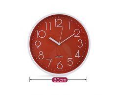 Reloj de pared 30 cm Rojo