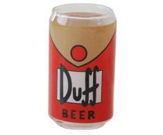 United Labels Simpsons 0109497 Duff - Set de 3 vasos de cristal con forma de lata de cerveza Duff, 300 ml [importado de Alemania]