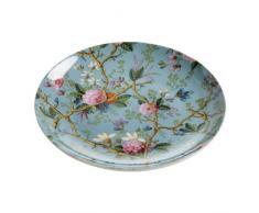 Maxwell & Williams Kilburn WK05520 Platos de Postre, diseño de jardín Victoriano, 20 cm, en Caja de Regalo, Porcelana