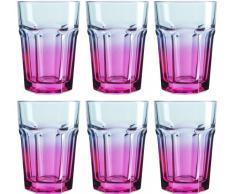 Josef Mäser GmbH Serie Country - Vasos (40 cl, 6 unidades), color azul y rosa