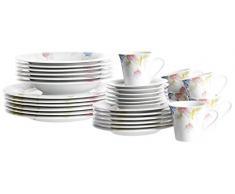 Josef Mäser GmbH Serie Tilia - Vajilla de 30 servicios (6 tazas), color blanco