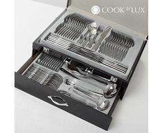 Genérico - Cubertería de acero inoxidable cook d'lux (72 piezas)