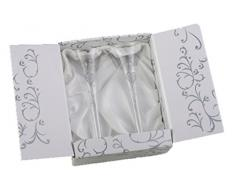 Boxer Tallulah - Copa de champán (2 unidades, con caja de regalo), con diseño de recién casados