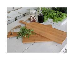 Chic Antique Tabla de Cortar Queso/Tapas Tabla para Servir Tabla (40 x 24 cm) de Madera de bambú