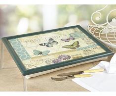 Creative Tops - Bandeja de Regazo con cojín Incorporado, diseño de Postal, Multicolor