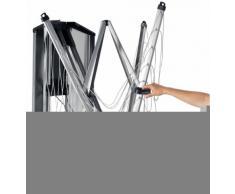 Brabantia WallFix - Tendedero, montaje en pared, 24 m de cuerda, caja de protección de acero, color gris