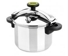 Monix Classica - Olla a presión tradicional de 8 litros, acero inoxidable, color gris