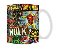 Marvel MG23444 8 x 11,5 x 9,5 cm retro cubiertas taza de cerámica, Multi-color
