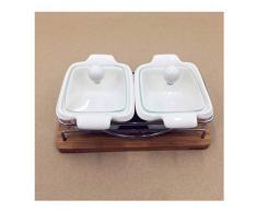 Liangzishop Mantequillera Mantequilla Cuadrado Simple Caja de cerámica Caja de Harina Mantequilla Caja de Almacenamiento Caja de refrigerador de Cocina Frescura, con Bandeja (Color : B)