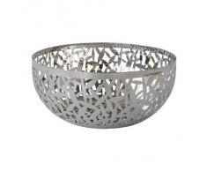 Alessi MSA04/21 - Frutero de acero pulido , 21 x 21 x 10,2 cm