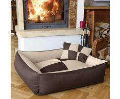 BedDog 2 en 1 colchón para perro MAX QUATTRO L, 6 colores, cama para perro, sofá para perro, cesta para perro, beige/marron L