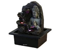 Fuente de agua interior Feng Shui Buda Spirit 26 cm con led multicolor