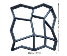 SDGDFXCHN Molde de plástico Adoquín Medio Hormigón Piedra de escalonamiento Molde de Patio Pavimento Patio Camino Paseo Fabricante