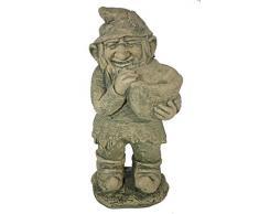 Casa Collection 11495 de pie de enano de jardín con depósito en las manos, piedra-efecto, altura: aprox. 44 cm