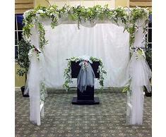 XuBa 2 m de imitación de Mimbre de Flores de glicinia para decoración de hogar, jardín, al Aire Libre, Boda, Arco