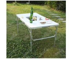 SoBuy® Mesa portátil con inclinación para el pic-nic,camping,BBQ,jardin,para salon al aire libre,table de barbacoa So-8877-D