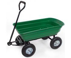 TecTake carro de mano manual inclinable Carrito Volquete Remolque Carro para materiales Carga máxima: 300 kg