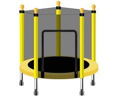 ZCXBHD Trampolín Redondo Interior para Niños para Niños Pequeños En Interiores Y Exteriores Trampolín Pequeño con Red De Gabinete Y Almohadilla De Seguridad 55 Pulgadas,C