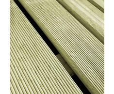 vidaXL 18x Baldosa de Porche 50x50 cm Madera Pino FSC Verde Suelo Loza Azulejo Teja Loseta Baldosín Terraza Veranda Balcón Resistente Intemperie