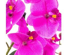artplants.de Orquídea Phalaenopsis Melina en Cuenco, 2 Ramas, Violeta, 45cm - Planta Artificial - Flores sintéticas