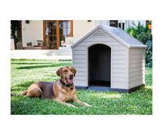 Chalet-Jardin 12 - 921177 caseta de jardín para perro PVC/resina beige/marrón 99 x 95 x 99 cm