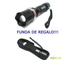 LINTERNA LED TACTICA CREE Q5 800 LUMENS, ZOOM CARGADOR MECHERO Y DE ELECTRICIDAD