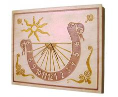 Reloj de sol en piedra natural numeros decimales