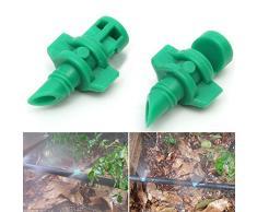 Sistema de riego con boquilla aspersor nebulizador rociador para césped, Micro jardín 180 grados - Aspersor de agua 50 piezas