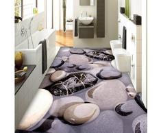 Lxsart Adoquín de piedra baño arte piso 3D estéreo personalizado pintura restaurante del hotel papel tapiz mural-400cmx280cm
