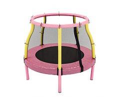 KaiKai Trampolín niños w/Red recinto de la Seguridad, Cubierta del trampolín del niño con la manija, Mini trampolín for Interior/Exterior, Grandes Regalos for los niños (Color : Pink)