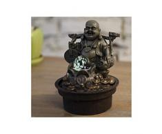 Zen Light Buda Voyageur Fuente, Resina, Bronce, 17Â x 17Â x 22Â cm