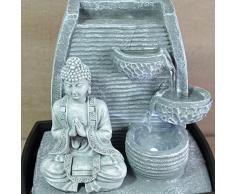 Fuente de agua interior Feng Shui Buda 24 cm con led blanco